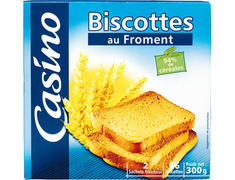 36 biscottes au froment - 2 sachets 300 g