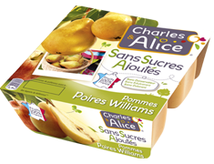 Desserts de fruits, sp�cialit� de pommes poires Williams - les 4 x 100 g