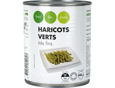 Haricots verts tr�s fins - 440�g