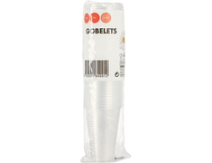 50 gobelets plastique transparents