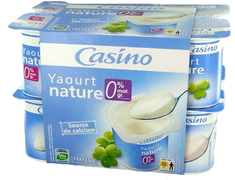 Yaourt nature 0% mg - 12�x�125�g