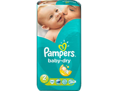 Pampers Baby Dry g�ant, T2 3-6 kg x 56