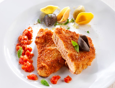 4 escalopes de veau � la milanaise - Scaloppina di vitello alla milanese