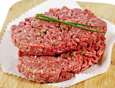 Steaks hach�s BIO fa�on bouch�re, 15% M.G. - les 4 x 100 g