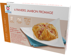 Paniers jambon fromage - 6 x 80 g