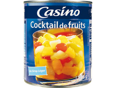 Cocktail de fruits au sirop léger Casino - 500 g