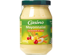 Mayonnaise à la moutarde de Dijon Casino - 235 g