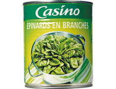 Epinards en branches Casino - 530 g