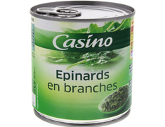 Epinards en branches Casino - 265 g