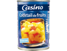 Cocktail de fruits au sirop léger Casino - 250 g