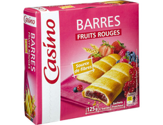 6 barres fruits rouges - 125 g