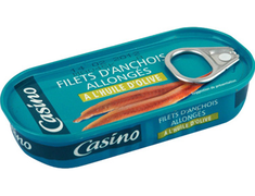 Filets d'anchois allongés Casino - 50 g