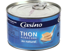 Thon albacore au naturel Casino - 280 g