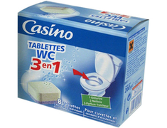 Tablettes WC 3 en 1 Casino - 8 tablettes