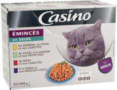 Eminc�s en gel�e pour chat adulte - 12�x�100�g