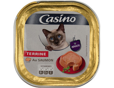 Terrine pour chats adultes au saumon Casino - 100 g