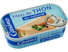 Filets de thon albacore au naturel Casino - 115 g