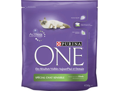 Croquettes Spécial chats adultes sensibles Purina One - 450 g
