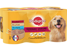 Terrines Saveurs pour chiens Pedigree - 6 x 410 g
