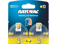 Rayovac, 8 piles pour appareils auditifs, 1,45V - n° 10, PR 70 intra-auriculaires Rayovac