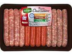 "Assortiment de 12 saucisses ""fa�on charcuti�re"" - 660 g"