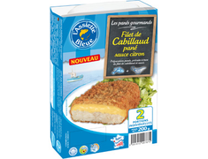 2 filets de cabillaud panés sauce citron - 200 g