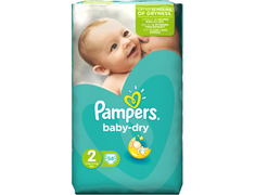 58 Pampers Baby Dry, taille 2 (3 à 6 kg)