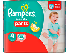 23 couches culottes Pampers Baby Dry Pants, taille 4