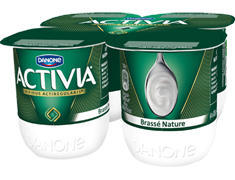 Activia brass� nature - 4 x 125 g