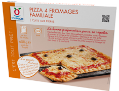 Pizza 4 fromages rectangulaire - 600 g