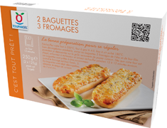 Baguettes 3 fromages - 2 x 125 g