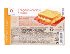 Croque-monsieur � po�ler - 6 x 100 g