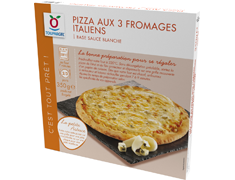 Pizza aux 3 fromages Italiens - 350 g