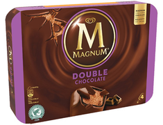 Glace Magnum® double chocolat - 4 x 77 g