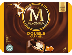 Glace Magnum® double caramel - 4 x 73 g