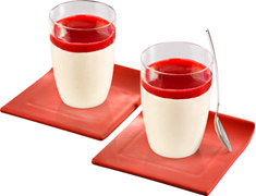Panna Cotta sauce aux fruits rouges - 2 x 120 g