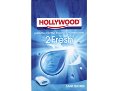 Chewing-gum Hollywood 2 fresh menthe forte - 66 g