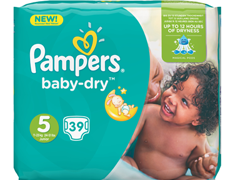39 Pampers Baby Dry, taille 5 (11 à 25 kg)