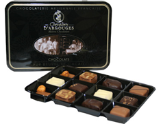 Assortiment de chocolats Gianduja Chevaliers d'Argouges - 120 g