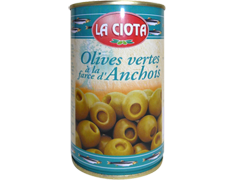 Olives vertes à la farce d'anchois - 120 g