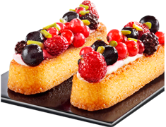 Entremets à la vanille et aux fruits rouges - Paradis fruits rouges - 2 x 70 g