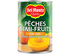 Pêches demi-fruits en jus Del monte - 235 g