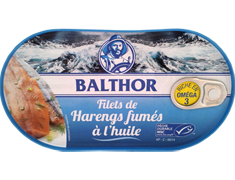Filets de harengs fumés à l'huile Balthor - 130 g
