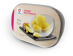 Sorbet multifruits - 480 g / 900 ml