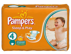 36 Pampers Simply-Dry maxi, taille 4 (7 à 18 kg)