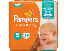 Couches Pampers Simply-Dry junior, taille 5 (11 à 25 kg) - 31 couches