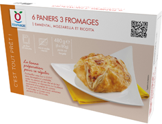 Paniers 3 fromages - 6 x 80 g
