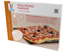 Pizza royale rectangulaire - 600 g