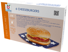 Cheeseburgers micro-ondables - 6 x 125 g