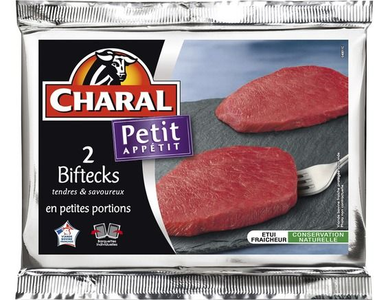 Petits steaks Charal - 2 x 80 g environ